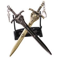 2pcs Dark Souls III 3 Artorias Weapon Model Keychain Key Ring Pendant Collection
