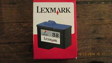 New Sealed Genuine Lexmark #88 18L0000 Color Ink Cartridge - Retail Pack