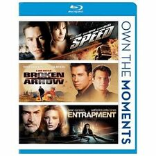 Speed/Broken Arrow/Entrapment (Blu-ray Disc, 2012) New