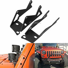 2x For Jeep Wrangler JK Windshield A-Pillar Mounting Bracket LED Light Dual Cube