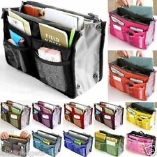 Portable Purse Tote Bag With Inner Storage Organizer Pouch Handbag (Violet)