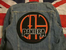 PANTERA vCOWBOYS FROM HELL BACKPATCH BACK PATCH  LARGE / HEAVY METAL BIKER
