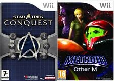 star trek conquest & Metroid Other M new&sealed