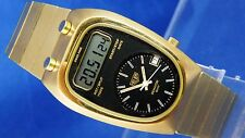 Vintage Heuer Senator GMT Chrono/Split Digital LCD Watch 1970s New Old Stock NOS