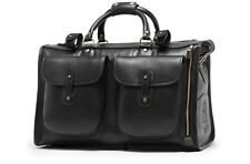 Ghurka Vintage Black Express No. 2 Leather Weekend Carry On Duffel Bag New $1995