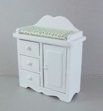Dolls House Miniature 1:12 Scale Nursery Furniture White Baby Changing Table