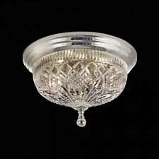 """NEW Waterford Crystal Beaumont 12"""" Silver Ceiling Fixture - FREE SHIPPING"""