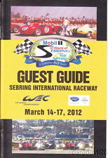 2012 12 Hours of Sebring WEC ALMS Guest Guide