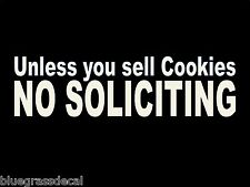 (2x) NO SOLICITING FUNNY COOKIES Glass Business Window Vinyl Decal Sticker