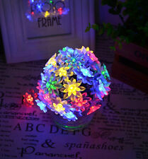 50 MULTI-COLOURED LED LOTUS FLOWER BLOSSOM GARDEN INDOOR OUTDOOR STRING LIGHTS