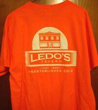LEDO'S TAVERN Columbus Ultimate Disc Assn XL tee CUDA logo Ohio bar T shirt