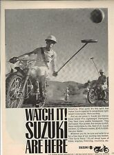 Original Suzuki Motorcycle Magazine Ad - Watch It