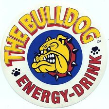 ADESIVO/STICKER * THE BULLDOG * ENERGY- DRINK * Periodo Anni 80