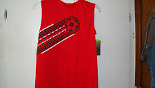 BOYS SLEEVELESS RED TEE BY TEK GREAR NEW WITH TAGS SIZE XLARGE