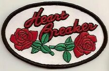 HEART BREAKER LADIES ROSES Funny Motorcycle Chick MC Biker Vest Patch PAT-0787
