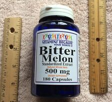 Bitter Melon Extract from Vitamins Because, 180 caps, 500 mg   NO PRESERVATIVES