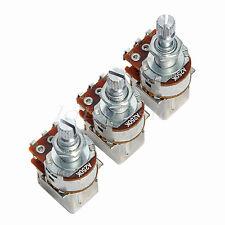 3 pcs Guitar Control Pot Potentiometer A250K Push Pull Pot Coil Tap 18 Shaft