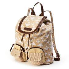 Unionbay Cream Birds Backpack Bookbag School Bag - NWT