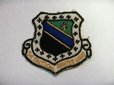 USAF 3d Tactical Fighter Wing RARE HANDWOVEN THEATER MADE