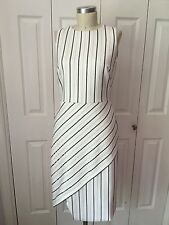 White House Black Market Striped Asymetrical Sheath Dress sz00