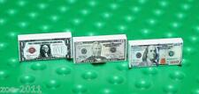 Lego 3x White Tile 1x2 Custom Printed Dollar Banknotes $1, $50, $100 Design NEW