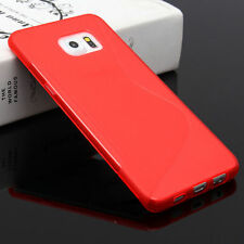 HOUSSE ETUI COQUE SILICONE GEL ROUGE SAMSUNG GALAXY S6 EDGE PLUS