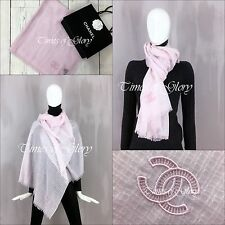 Rare NEW Chanel Baby Pink CC Logo Extra Large Pure Cashmere Shawl/ Wrap Scarf