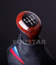 #1G Old School BURL WOOD Look Elegant Glassy Manual Gear Shift Knob BMW 5 Speed