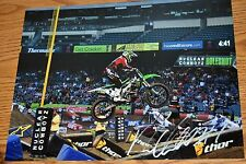 RYAN VILLOPOTO #1  SIGNED 11x14 ACTION PHOTO- COA -SUPERCROSS -CHAMPION