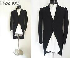 Beautiful Antique Early 20th Cent Vtg Edwardian Morning Dress Tailcoat & Shirt