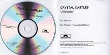 CRYSTAL CASTLES AFFECTION RARE 2 TRACK DJ PROMO CD [TARANTULA X REMIX]