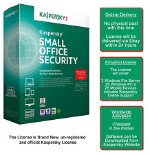 Kaspersky Small Office Security 2 File Server+ 25PC+25 Mob.Dev.(Online Delivery)