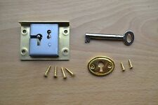 "SOLID BRASS DRAWER / TILL LOCK SET - 2"" - TOP QUALITY BRITISH MADE LOCK"