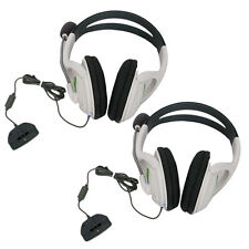 2x White Live Headset Headphone MIC for Xbox 360 Elite Slim Wireless Contro