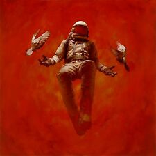 Jeremy Geddes Hypostasis Signed #'d Giclee Print Poster Cosmonaut Mint Astronaut