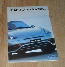 FIAT Barchetta PIEGHEVOLE BROCHURE/poster 2000