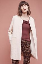 NWT Anthropologie Boucle Car Coat by Cartonnier Large Cream $228