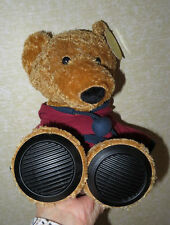 Excite Teddy Bear Portable Speaker MP3  iPhone iPod i Pad  1/8 inch plug Works