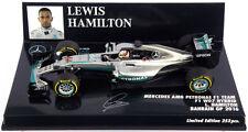 Minichamps Mercedes W07 #44 Bahrain GP 2016 - Lewis Hamilton 1/43 Scale