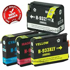 4 Pack 932XL 933XL Ink Cartridge for HP OfficeJet 7110 7610 7612 Show Ink L