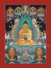 "34"" x 24.5"" Shakyamuni Buddha Tibetan Buddhist Thangka/Thanka Scroll Painting"