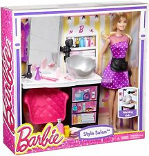 Barbie Malibu Ave Salon with Barbie Doll Playset New
