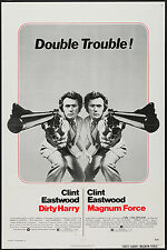 DIRTY HARRY/MAGNUM FORCE orig 1975 combo one sheet movie poster CLINT EASTWOOD