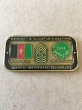 REAL Challenge Coin ISAF CSM Thomas Chapel