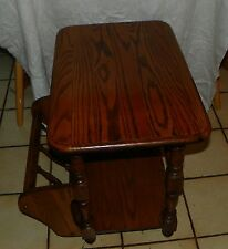 Solid Oak Magazine Rack End Table / Side Table  (T354)