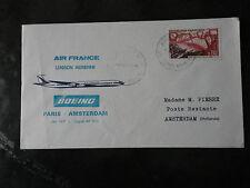 AVIATION.PREMIER VOL PAR AIR FRANCE JET 727 PARIS/AMSTERDAM.1970