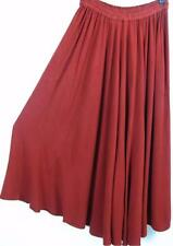 TIENDA HO~SPANISH RED~Woven Susti~S6 FULL SKIRT~Soft Hand and Drape~FREE (M-1X?)