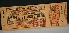 RARE!  Henry Armstrong vs. Lou Ambers, Aug 17, 1938, Full Unused Fight Ticket EX