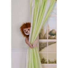 CURTAIN CRITTERS BABY JUNGLE SAFARI ZOO NURSERY LION CURTAIN TIEBACK (1)