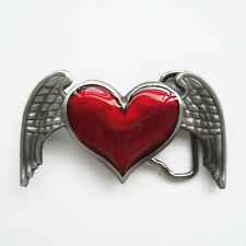 New Belt Buckle Heart Angel Wings Belt Buckle Gürtelschnalle Boucle de ceinture